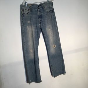 Abercrombie and Fitch Men Rip Jean